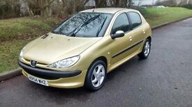 2005 PEUGEOT 206 S 1.4 2005/54 PLATE,NEW CAMBELT/WATERPUMP,LONG MOT