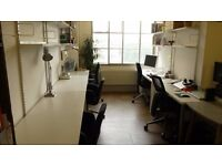 LARGE Bright Desk in NETIL HOUSE creative space in BROADWAY MARKET (inc. bills)