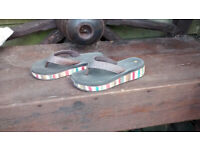 Ladies Dunlop flip flops, UK6, never used, H5cm, excellent condition, Porthtowan