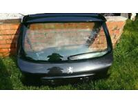 Peugeot 206 tailgate with spoiler