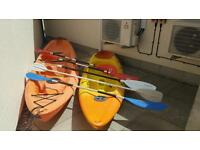 Kayaks and life jackets for sale