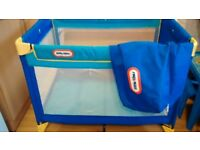 Travel cot with mattress and carry bag