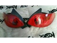 Peugeot 206 phase 2 rear lights