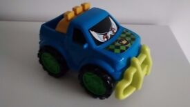 "Mothercare Plastic Blue & Yellow Pick-up Truck 4x4 Jeep 10"" Toy Car"