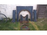 cast fire surround not bad condition any questions please ask