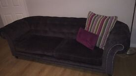 4 seater dark grey/charcoal Chesterfield style DFS sofa for sale!!