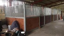 12x12 galvanised stables