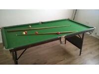 fold up pool / snooker table