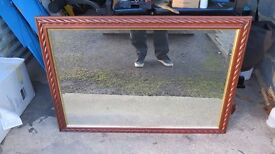 LARGE GLASS MIRROR 40.5 in x 28.5 in