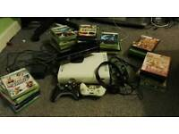 X Box 360 8GB with Kinnect, Headset and Games