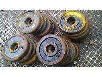 cast iron weight plates 20 x 0.5 kg,,,,,£10