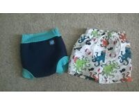 Swim shorts (3-6 months) and happy nappy (6-12 months)