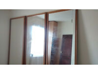 Sliding wardrobe door set
