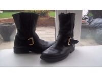 Ladies Real Leather Biker Boots (from Next) colour black – very good condition – size 4