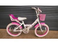 GIRLS SPARKLE BIKE IN EXCELLENT LITTLE USED CONDITION. (SUIT APPROX. AGE. 4+).