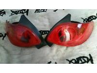 Peugeot 206 phase 2 rear lights good condition
