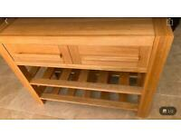 Solid oak large sideboard/ console table Sonoma style