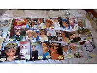 Princess Diana An Extraordinary Life, full set of 26 magazines plus newspapers, magazines , cuttings
