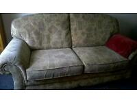 1 Large 2 seater sofa and 1 matching arm chair