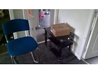 Tv stand black glass (chair has been taken)