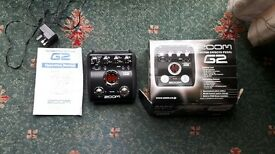 Zoom G2 boxed with instructions and power supply