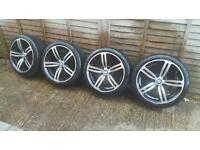 "Set of 4 18"" m6 style alloy wheels"