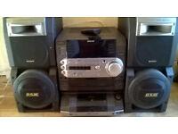Sony LBT-LX5 Large 5 CD Changer Hi-Fi system + Guitar Input.