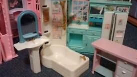 Vintage Retro Barbie Dolls House