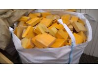 KILN DRIED FIREWOOD LARGE BULK BAG all cut to size FREE deliver