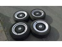 """4x100 & 4x114.3 lenso bsx 16"""" alloy wheels bbs reps staggered look. BBS REPS."""