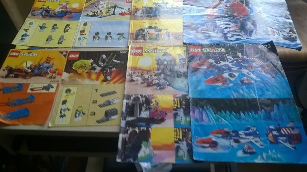8 Old Lego Instruction Manuals Slightly Damaged In Surbiton