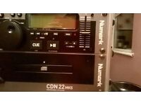 Numark Proessional CD Player - CDN 22 MK5, Brand New, in Stagg Protective Case, RRP £150