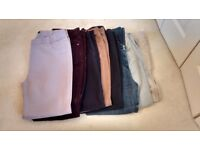 Ladies trousers size 16 ,8 pairs size 14,3 pairs £10 the lot