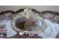 'NEW' BEAUTIFUL OVAL GOLD EFFECT ORNATE/SHABBY CHIC MIRROR