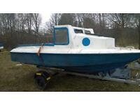 16ft Fibre Glass Fishing Boat, with Trailer