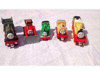 Five Take Along Thomas die-case model trains