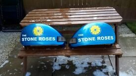 vespa side panels vynil wrapped .stone roses and smoked indicotor lenses and bulbs and wiriing