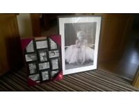 £10 -Marilyn Monroe Black n White Framed Photo and Collage Photo Frame together or separate