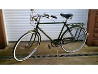 ORIGINAL RALEIGH SUPERBE BICYCLE, RALEIGH BIKE, RALEIGH VINTAGE BICYCLE DYNOHUB ORIGINAL UNRESTORED