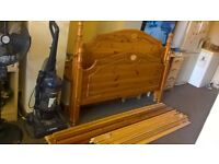Solid pine king size bed 5ft