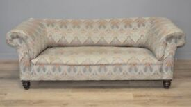 Large Antique Victorian Chesterfield 2/3 Seat Sofa Couch Settee For Reupholstery