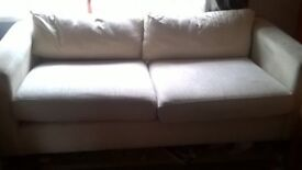 fabric sofa with matching arm chair