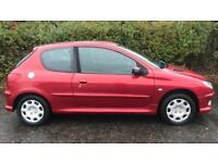 PEUGEOT 206 LOOK 1.4L (2007) year mot 3 door cheap