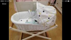 Moses basket and stand mothercare