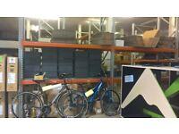 dexion warehouse racking 12 frames, 32 beams, 32 steel mesh shelves