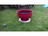 garden pot made from tyre hand painted