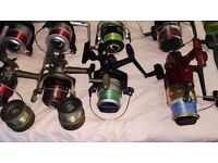 sea fishing fixed spool reels over 20 to choose from a £5 to £10 each