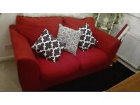 Lovely red double sofa bed