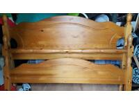 King size pine bed frame ideal shabby chic project