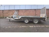 GX105 mini-digger/plant/general purpose trailer 3500kg. gtw. 3 metres by 1.8 metres internal size.
